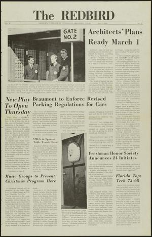 Primary view of object titled 'The Redbird (Beaumont, Tex.), Vol. 16, No. 11, Ed. 1 Friday, December 3, 1965'.