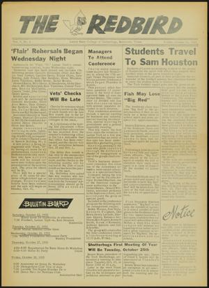 Primary view of object titled 'The Redbird (Beaumont, Tex.), Vol. 5, No. 6, Ed. 1 Friday, October 21, 1955'.