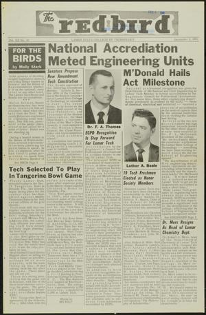 Primary view of object titled 'The Redbird (Beaumont, Tex.), Vol. 12, No. 10, Ed. 1 Friday, December 1, 1961'.
