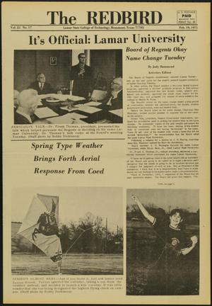 Primary view of object titled 'The Redbird (Beaumont, Tex.), Vol. 21, No. 17, Ed. 1 Friday, February 19, 1971'.