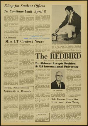 Primary view of object titled 'The Redbird (Beaumont, Tex.), Vol. 19, No. 23, Ed. 1 Friday, March 28, 1969'.