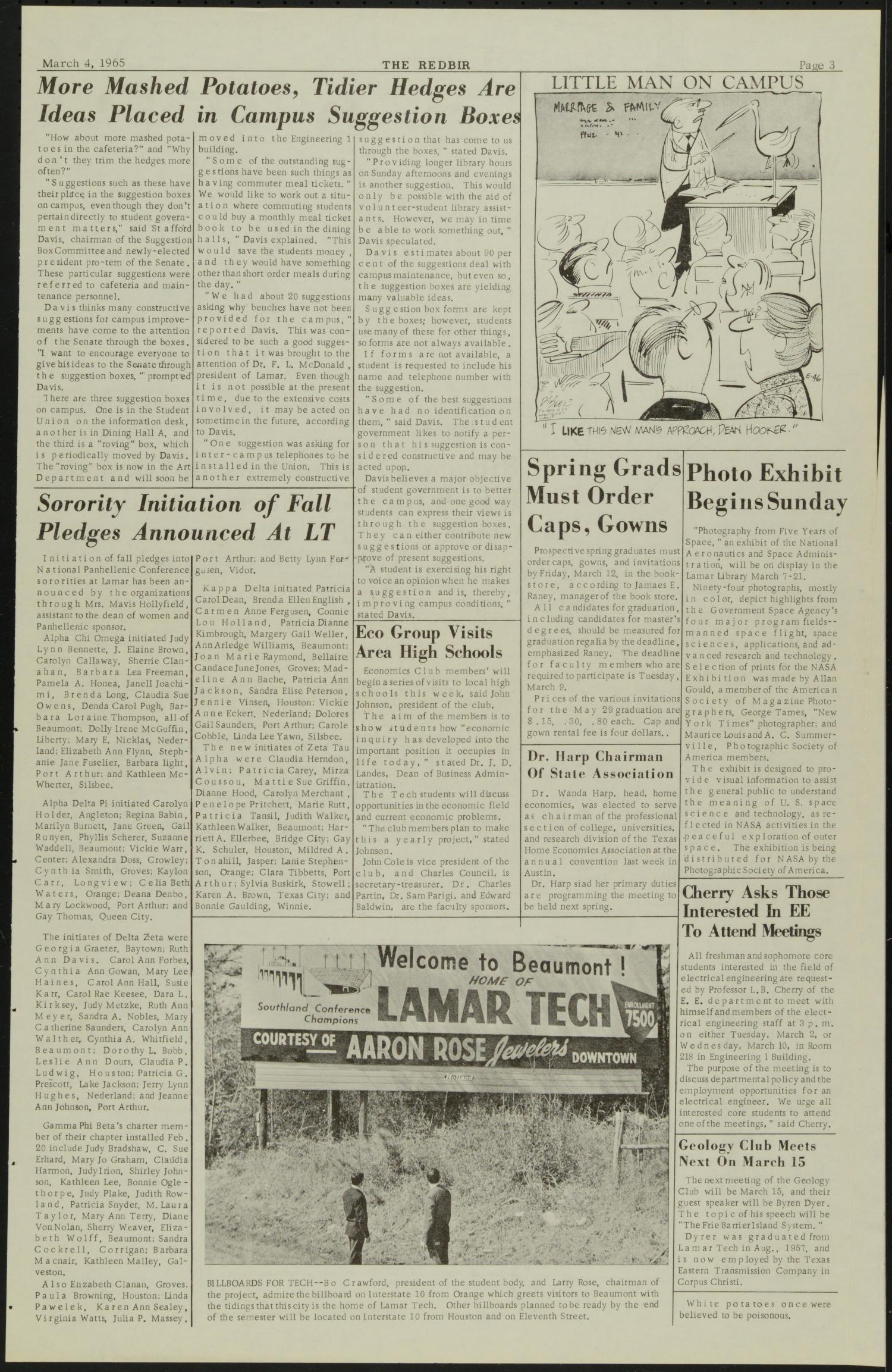 The Redbird (Beaumont, Tex ), Vol  15, No  16, Ed  1