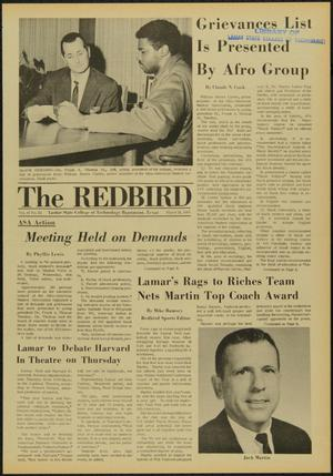 Primary view of object titled 'The Redbird (Beaumont, Tex.), Vol. 19, No. 22, Ed. 1 Friday, March 21, 1969'.