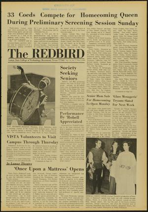 Primary view of object titled 'The Redbird (Beaumont, Tex.), Vol. 19, No. 7, Ed. 1 Friday, November 1, 1968'.