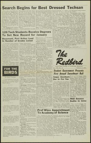 Primary view of object titled 'The Redbird (Beaumont, Tex.), Vol. 13, No. 12, Ed. 1 Friday, February 8, 1963'.