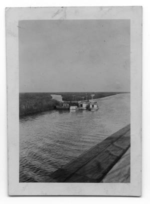 Primary view of object titled 'Waterfront and Boats'.