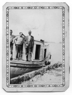 Primary view of object titled 'Men on Boat'.