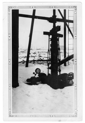 Primary view of object titled 'Snowy Oil Well'.