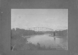 Primary view of object titled '[Brazos River Bridge from a distance]'.