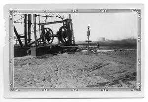 Primary view of object titled 'Oil Blowing from Well'.