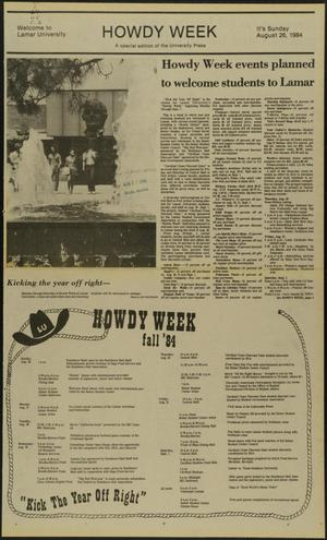 Primary view of object titled 'University Press (Beaumont, Tex.), Ed. 1 Sunday, August 26, 1984'.