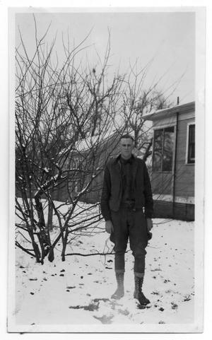 Primary view of object titled 'Man in Snow'.