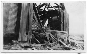 Primary view of object titled 'Collapsed Derrick'.