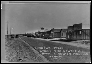 Primary view of object titled 'View of Andrews, Texas'.