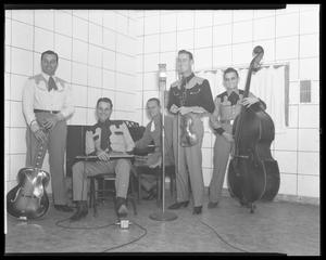 Primary view of object titled 'Cecil Brower's Cowboy Band in studio'.