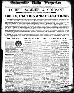 Primary view of Gainesville Daily Hesperian. (Gainesville, Tex.), Vol. 10, No. 25, Ed. 1 Saturday, December 29, 1888