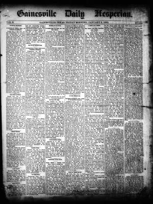 Primary view of object titled 'Gainesville Daily Hesperian. (Gainesville, Tex.), Vol. 10, No. 338, Ed. 1 Friday, January 3, 1890'.