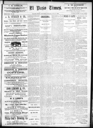 Primary view of object titled 'El Paso Times. (El Paso, Tex.), Vol. SIXTH YEAR, No. 142, Ed. 1 Wednesday, June 16, 1886'.