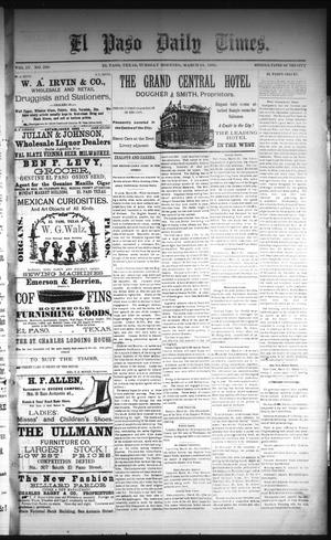 Primary view of object titled 'El Paso Daily Times. (El Paso, Tex.), Vol. 4, No. 290, Ed. 1 Tuesday, March 24, 1885'.