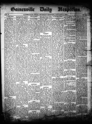 Primary view of object titled 'Gainesville Daily Hesperian. (Gainesville, Tex.), Vol. 10, No. 337, Ed. 1 Thursday, January 2, 1890'.