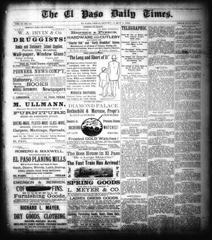 Primary view of object titled 'The El Paso Daily Times. (El Paso, Tex.), Vol. 2, No. 56, Ed. 1 Saturday, May 5, 1883'.