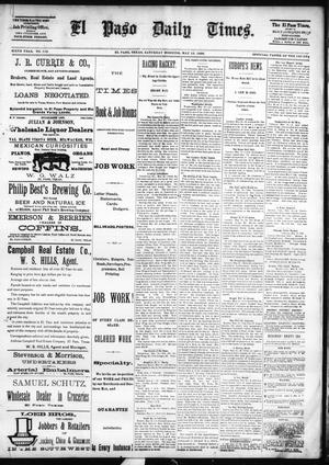 Primary view of object titled 'El Paso Daily Times. (El Paso, Tex.), Vol. SIXTH YEAR, No. 115, Ed. 1 Saturday, May 15, 1886'.