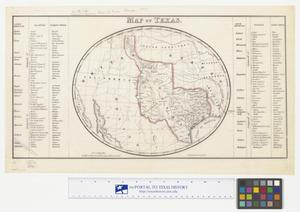 Primary view of object titled 'Map of Texas'.