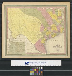 Primary view of object titled 'Map of Texas from the most recent authorities.'.