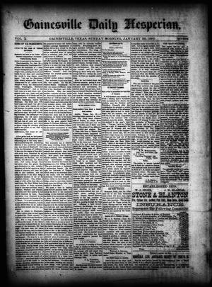 Primary view of Gainesville Daily Hesperian. (Gainesville, Tex.), Vol. 10, No. 358, Ed. 1 Sunday, January 26, 1890