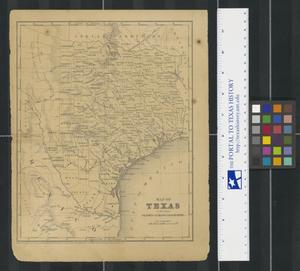 Primary view of object titled 'Map of Texas : To Illustrate Olney's School of Geography'.