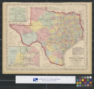 Primary view of object titled 'Map of the State of Texas from the Latest Authorities.'.