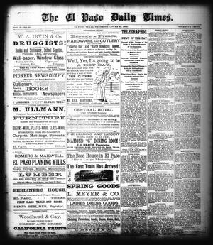 Primary view of object titled 'The El Paso Daily Times. (El Paso, Tex.), Vol. 2, No. 95, Ed. 1 Wednesday, June 20, 1883'.