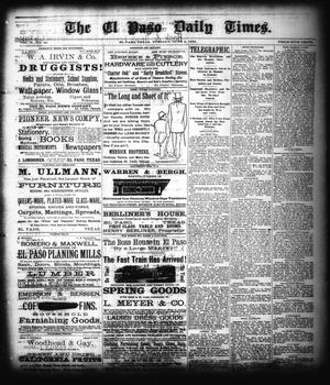 Primary view of object titled 'The El Paso Daily Times. (El Paso, Tex.), Vol. 2, No. 82, Ed. 1 Tuesday, June 5, 1883'.