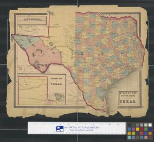 Primary view of object titled 'Atlas of the United States: Texas.'.