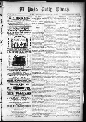 Primary view of object titled 'El Paso Daily Times. (El Paso, Tex.), Vol. 4, No. 331, Ed. 1 Saturday, May 16, 1885'.