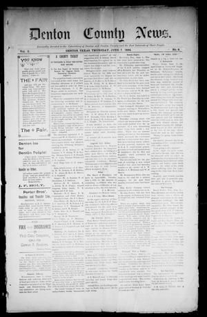 Primary view of object titled 'Denton County News. (Denton, Tex.), Vol. 3, No. 6, Ed. 1 Thursday, June 7, 1894'.
