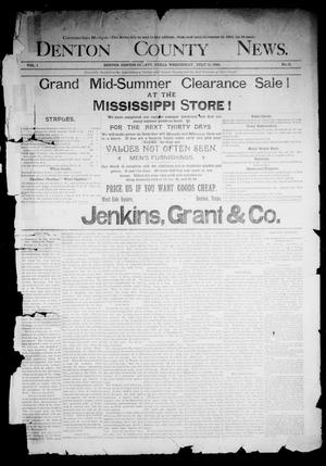 Primary view of object titled 'Denton County News. (Denton, Tex.), Vol. 1, No. 11, Ed. 1 Wednesday, July 13, 1892'.