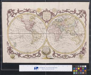 Primary view of object titled 'A New and Accurate Map of the World, Comprehending all the New Discoveries, in Both Hemispheres, carefully brought down to the Present Time.'.