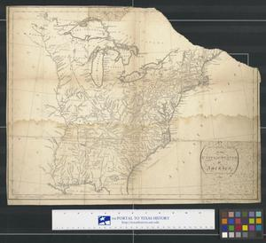 Primary view of object titled 'An Accurate Map of the United States of America, according to the Treaty of Peace of 1763.'.