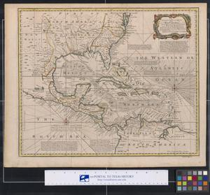 Primary view of object titled 'A New and Accurate Chart of the West Indies with the Adjacent Coasts of North and South America'.
