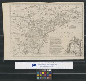 Primary view of object titled 'Map of the British and French Settlements in North America'.