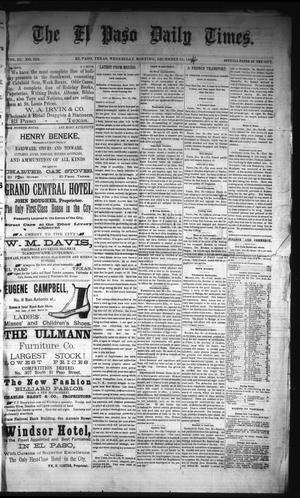 Primary view of object titled 'The El Paso Daily Times. (El Paso, Tex.), Vol. 3, No. 223, Ed. 1 Wednesday, December 31, 1884'.
