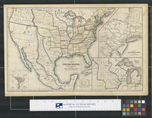 Primary view of object titled 'Political map of the United States, Texas, Mexico and the British Provinces: adapted to Woodbridges Geography.'.