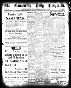 Primary view of object titled 'The Gainesville Daily Hesperian. (Gainesville, Tex.), Vol. 12, No. 314, Ed. 1 Saturday, October 10, 1891'.
