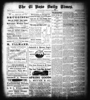 Primary view of object titled 'The El Paso Daily Times. (El Paso, Tex.), Vol. 2, No. 41, Ed. 1 Monday, April 16, 1883'.