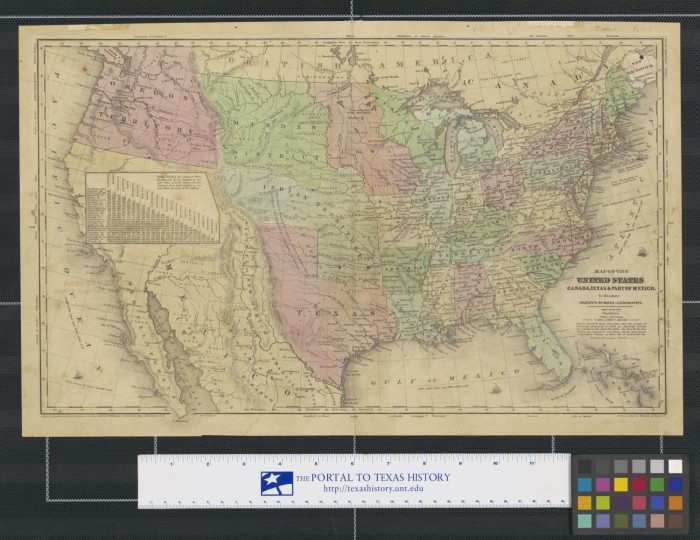 Map Of The United States Canada Texas Part Of Mexico To