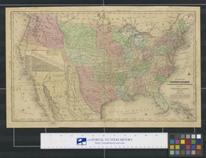 Primary view of object titled 'Map of the United States, Canada, Texas & Part of Mexico: To Illustrate Olney's School Geography.'.