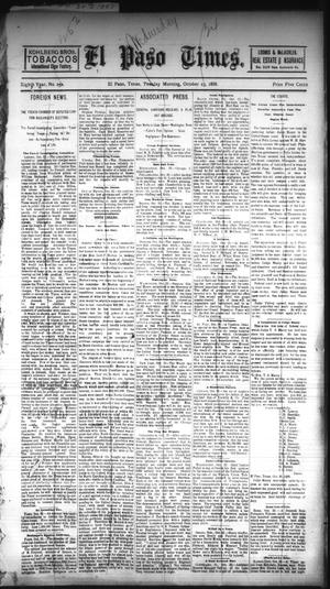 Primary view of object titled 'El Paso Times. (El Paso, Tex.), Vol. EIGHTH YEAR, No. 252, Ed. 1 Tuesday, October 23, 1888'.