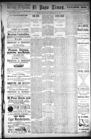 Primary view of object titled 'El Paso Times. (El Paso, Tex.), Vol. Seventh Year, No. 118, Ed. 1 Sunday, May 22, 1887'.