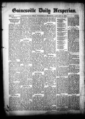 Primary view of object titled 'Gainesville Daily Hesperian. (Gainesville, Tex.), Vol. 10, No. 342, Ed. 1 Wednesday, January 8, 1890'.